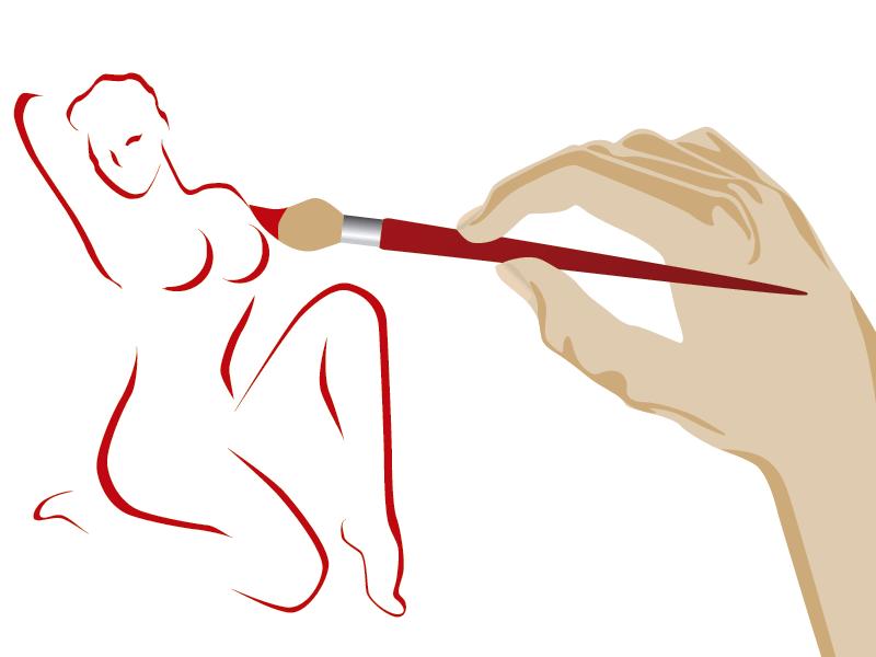 dibujo cuerpo mujer esculpido con lipotransferencia corporal
