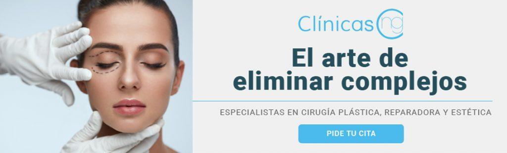 Banner de Clinicas NG para pedir cita