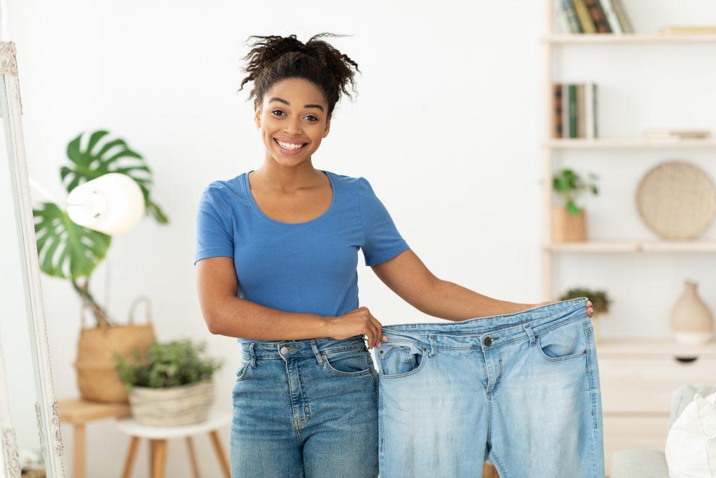 Pérdida de peso liposucción mujer